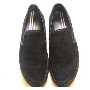 Robert Wayne Suede Patent Leather Loafers